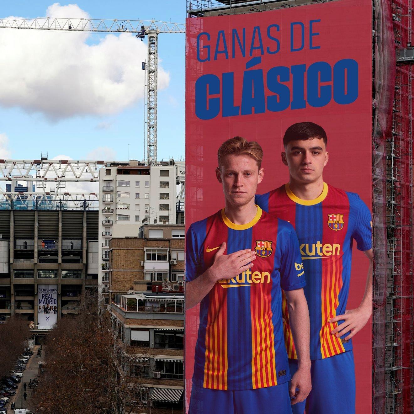 La pancarta publicada por el Barcelona.