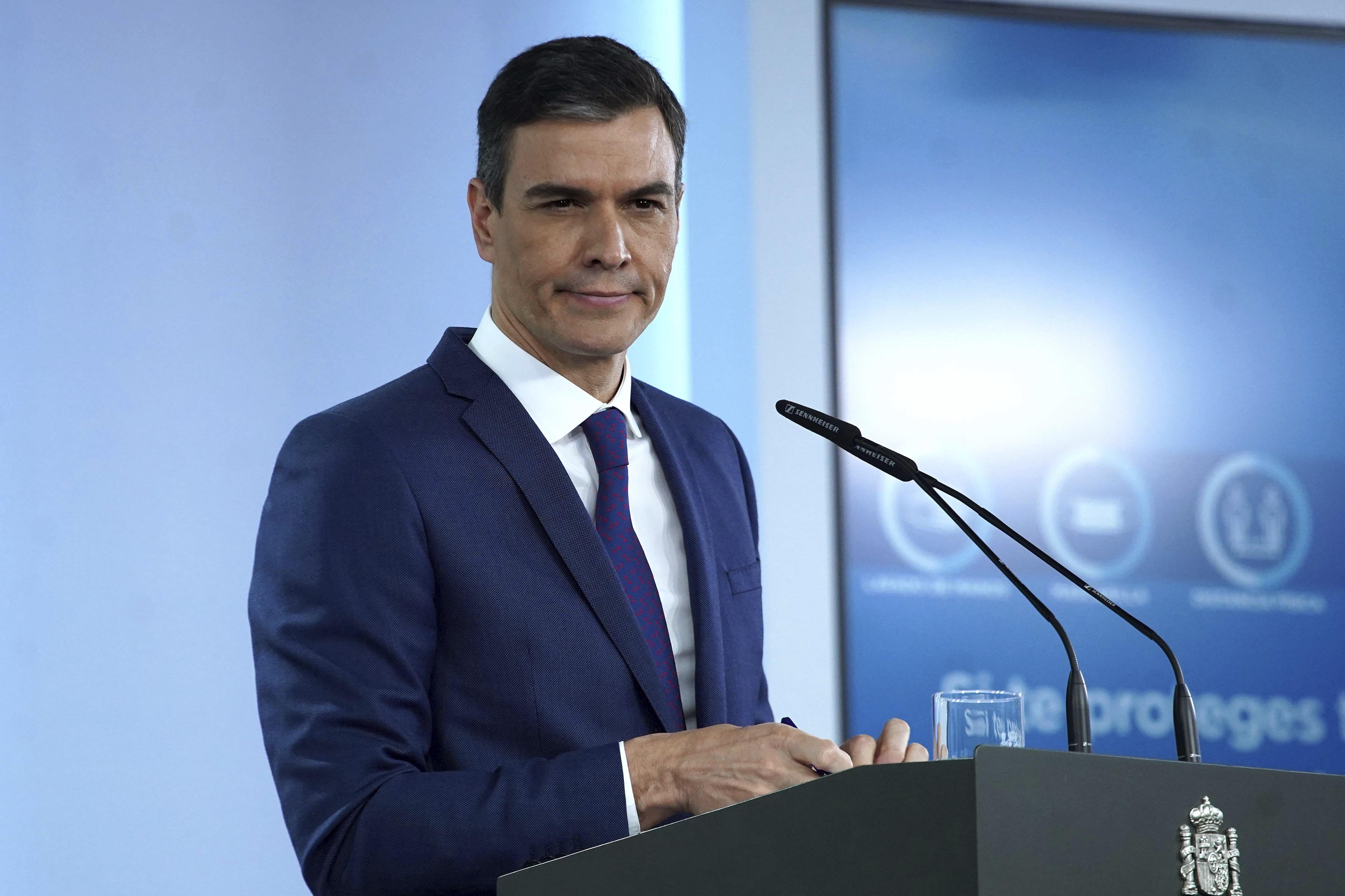 Pedro Sánchez, presidente del Gobierno, tras la reunión del Consejo de Ministros.