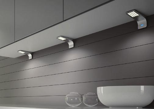 Las lámparas LED modelo Skipy que ofrece Luisina son de aluminio tienen interruptor táctil.