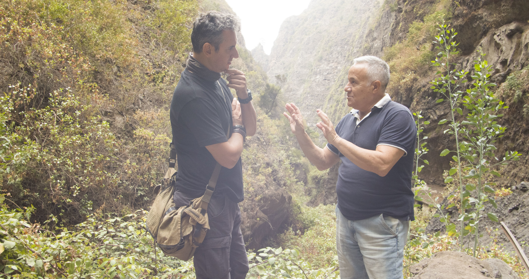 González Bueno con unos de los testigos de avistamientos