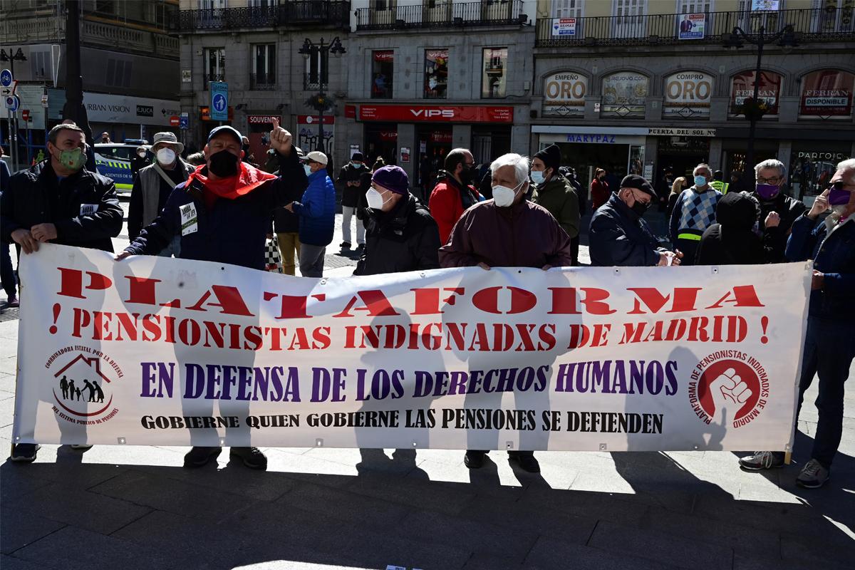 Manifestación de la Coordinadora General de Pensionistas de Madrid.