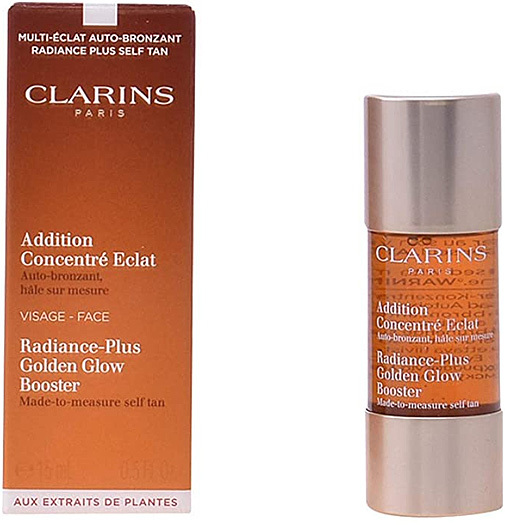 Addition concentré éclat auto-bronzant, de Clarins.