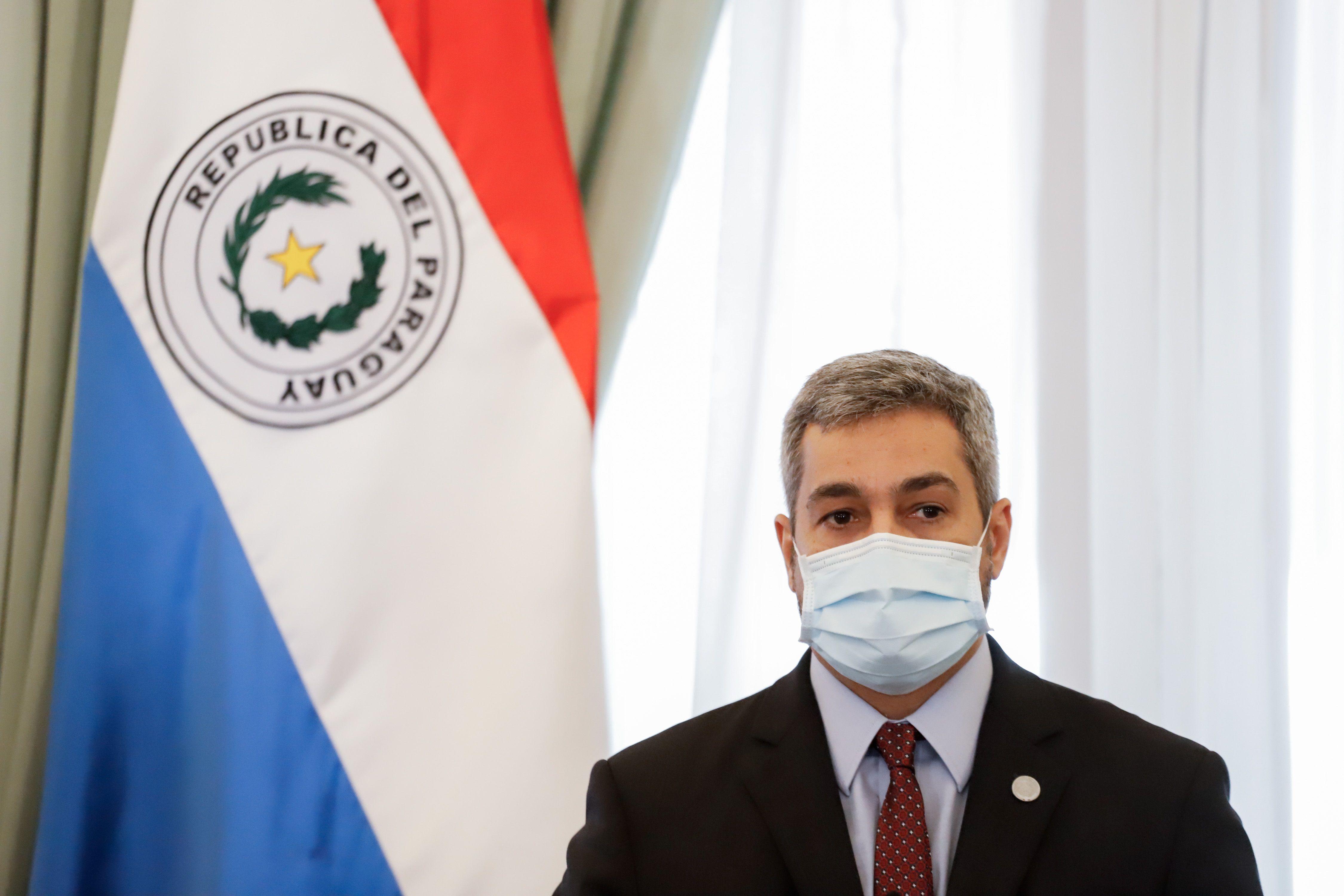 El presidente de Paraguay, Mario Abdo Benítez, el pasado lunes.