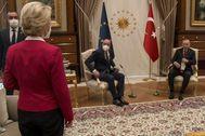 Von der Leyen en la cumbre de Ankara la semana pasada.