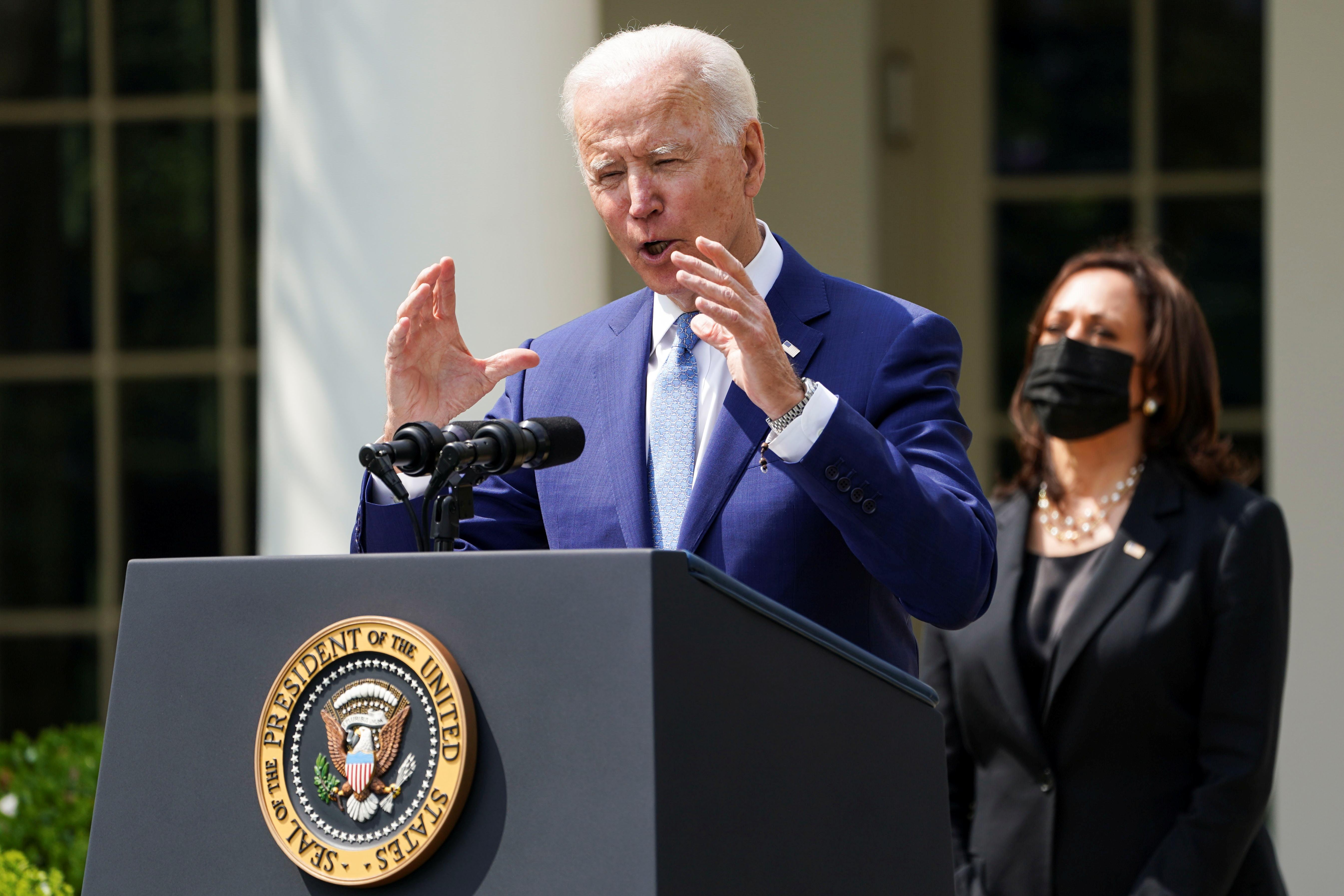 El presidente de EEUU, Joe Biden, en la rueda de prensa de este jueves.