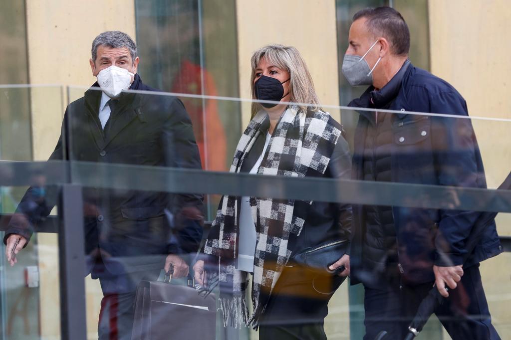 Núria Marín a su llegada al juzgado.