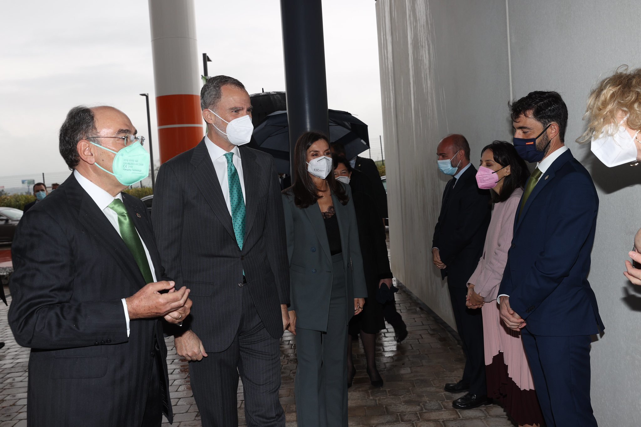 Los Reyes junto a Ignacio Sánchez Galán a su llegada a Iberdrola