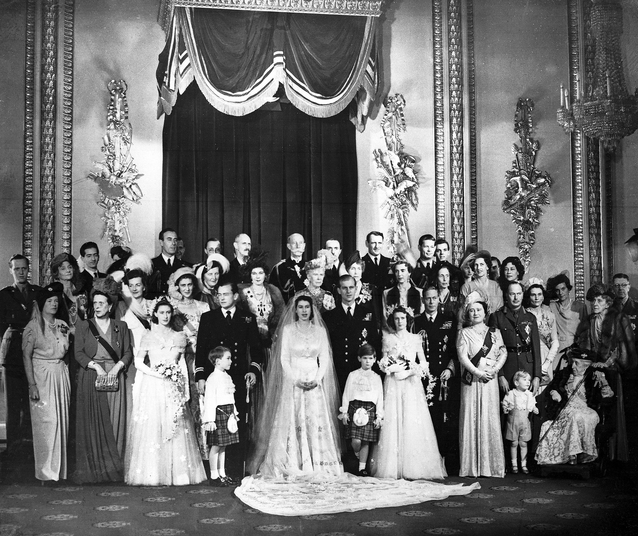 La boda real el 20 de noviembre de 1947.