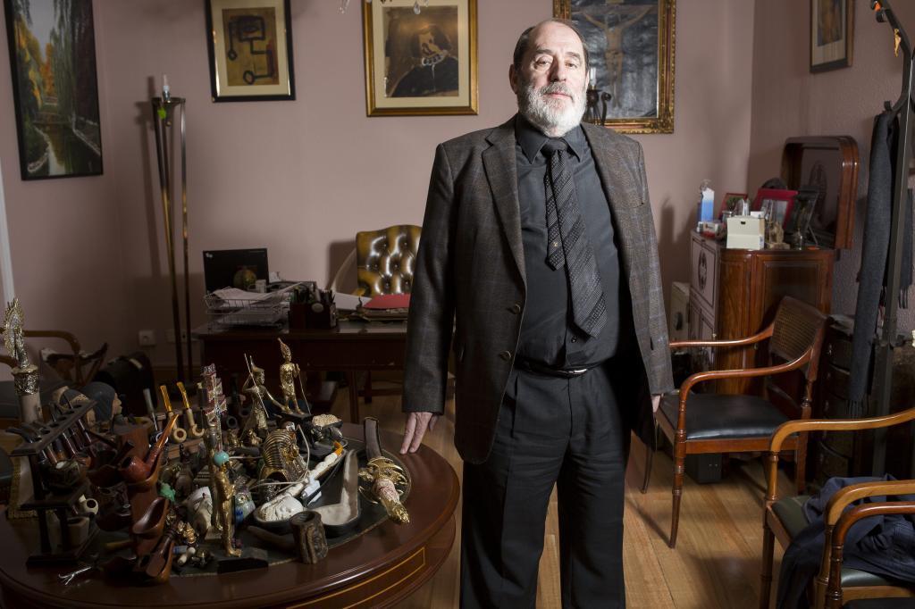 José Emilio Rodríguez Menéndez en su despacho, en 2015.