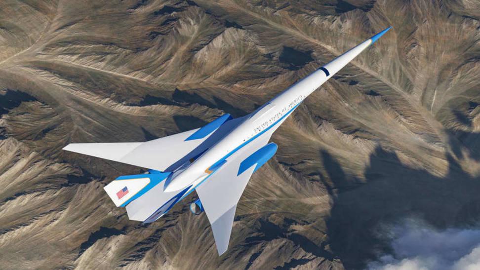 Diseño del nuevo avión supersónico para el presidente de EEUU