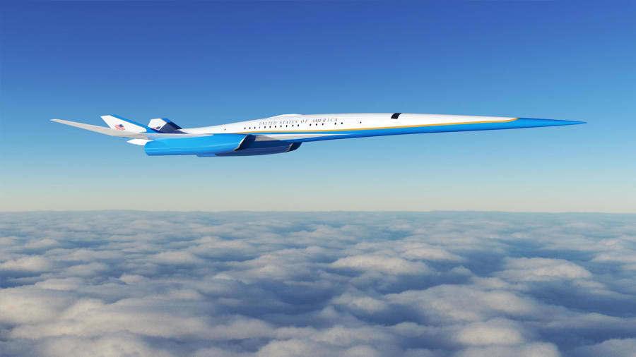 Así será el nuevo avión supersónico del presidente de EEUU
