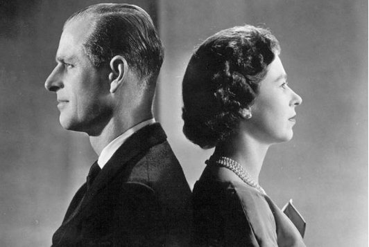 Felipe, duque de Edimburgo y la Reina Isabel II.
