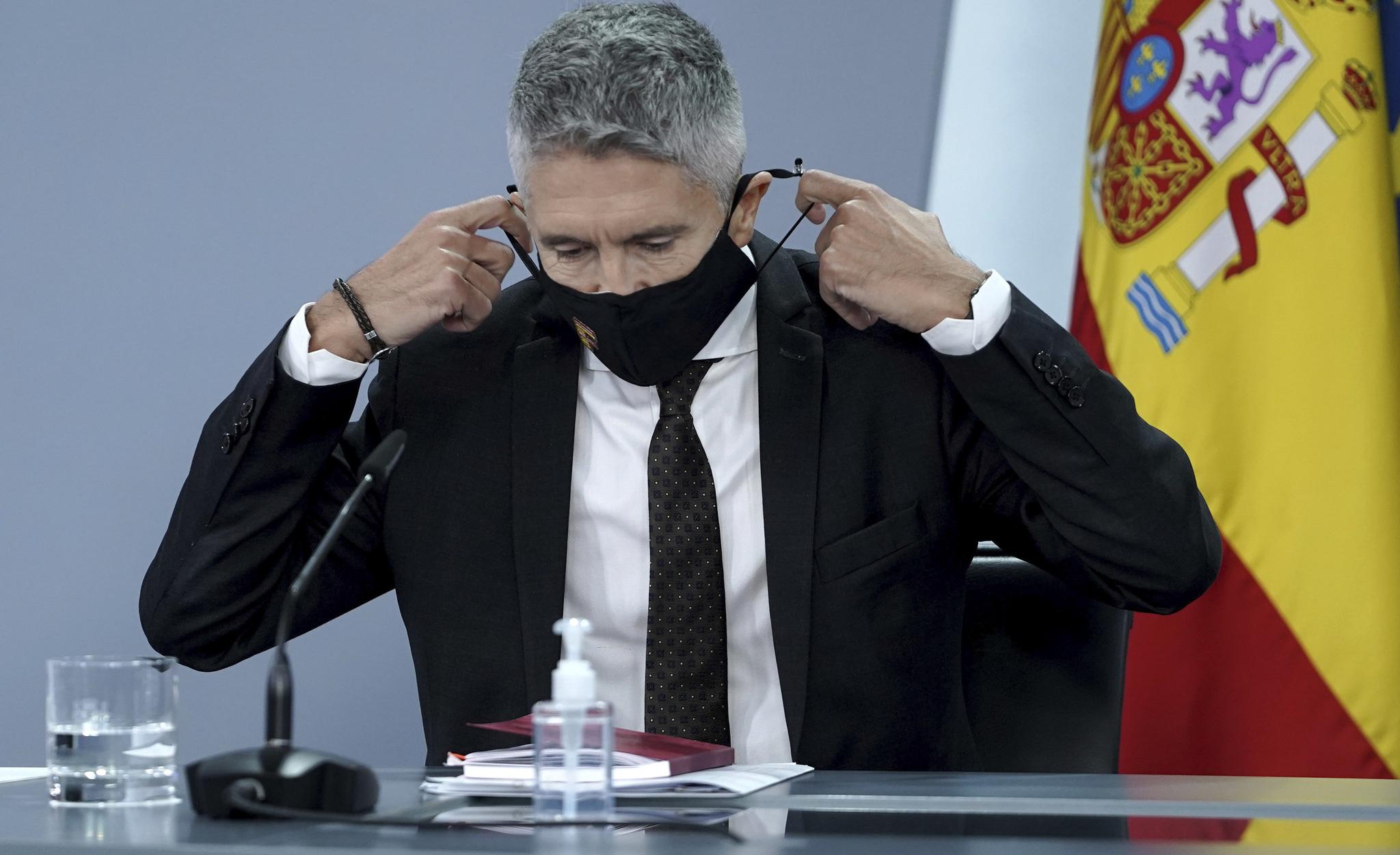 El ministro Fernando Grande-Marlaska, en La Moncloa.