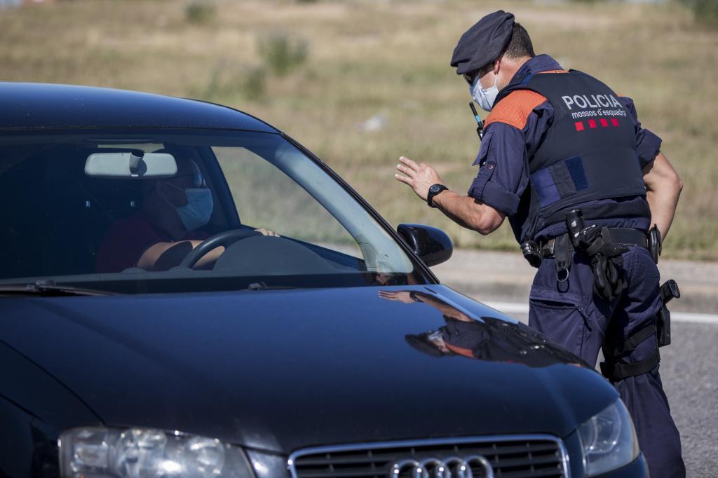 Imagen de archivo de un control policial
