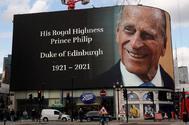 Homenaje en Picadilly Circus a Felipe de Edimburgo