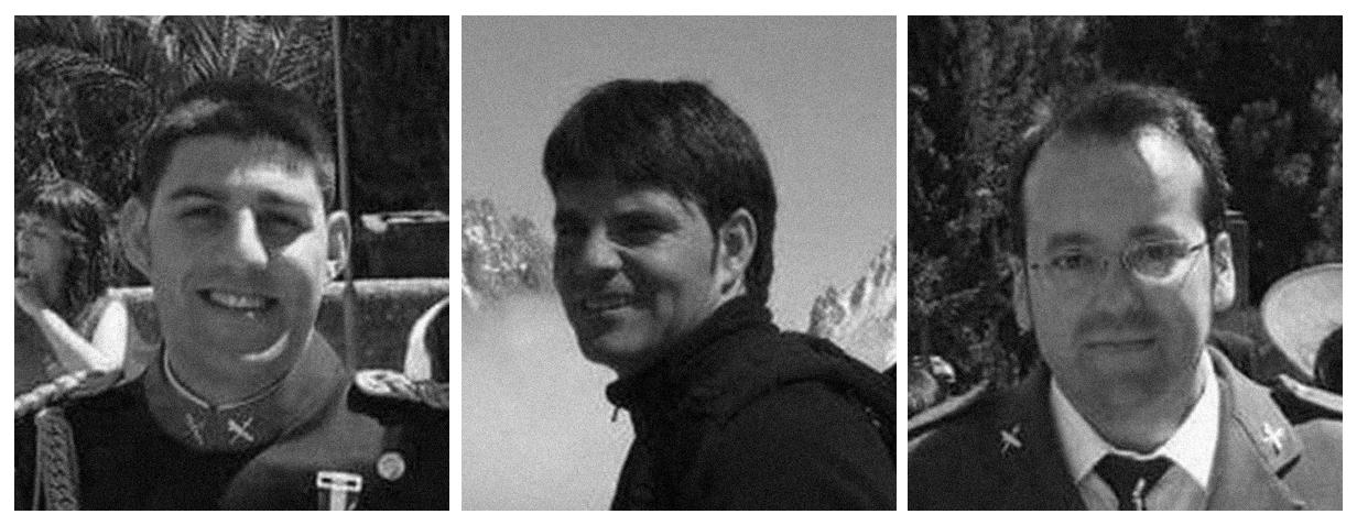 Las víctimas: Víctor Romero, José Luis Iranzo y Víctor Caballero.
