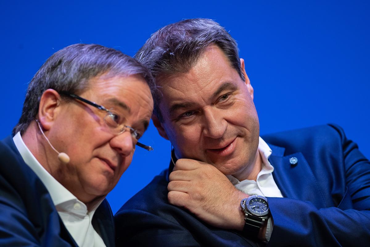 Söder habla con Laschet, en Berlín.