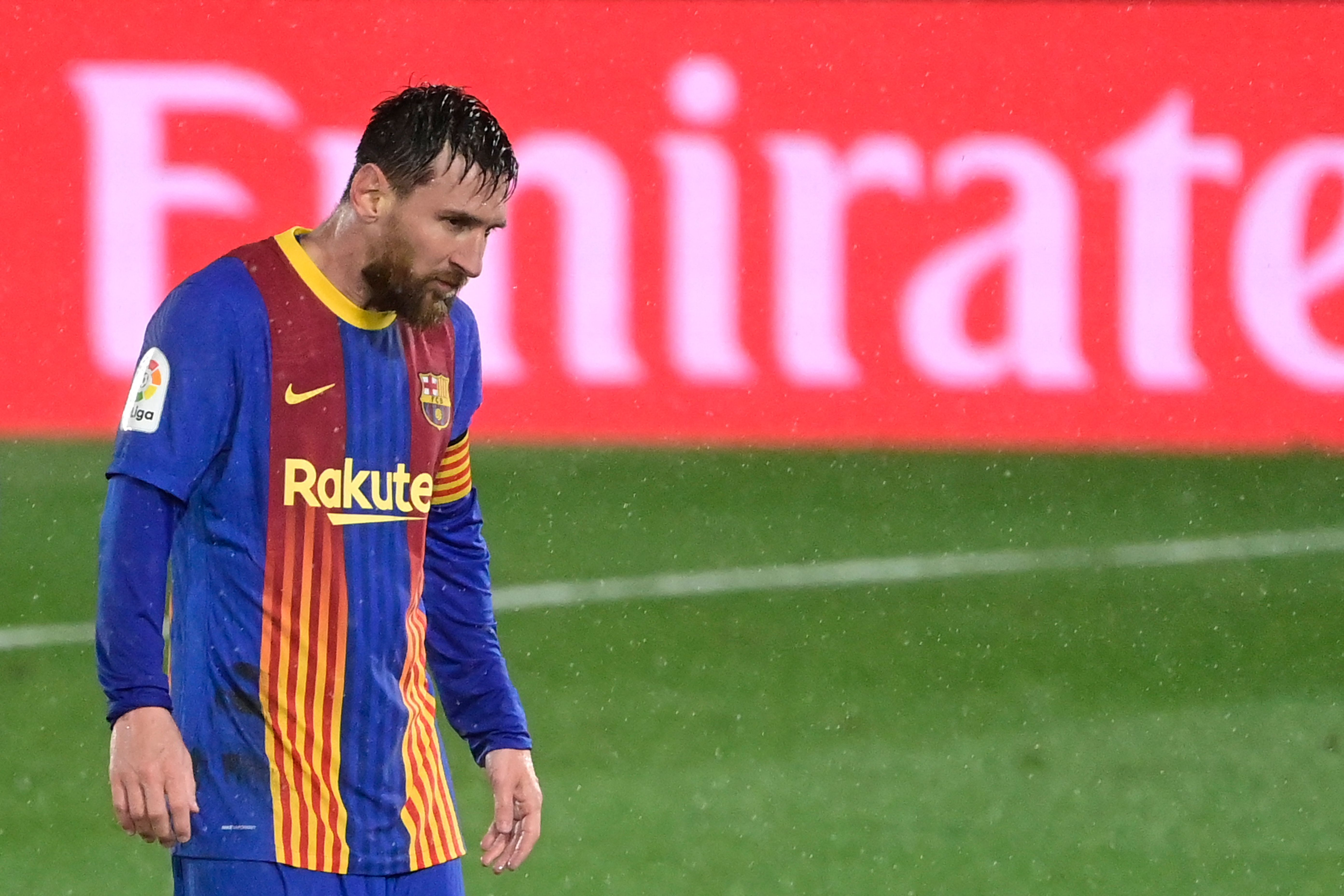 Messi, durante el partido contra el Real Madrid.
