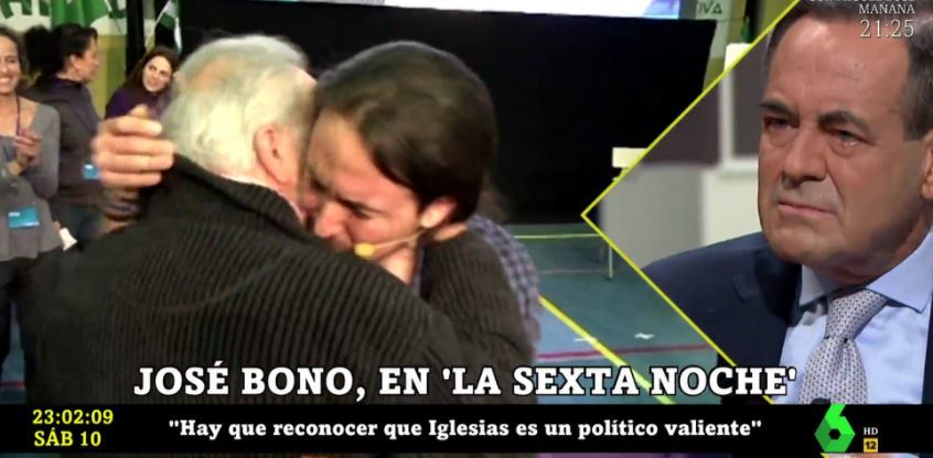 José Bono, durante su intervención en la Sexta Noche.