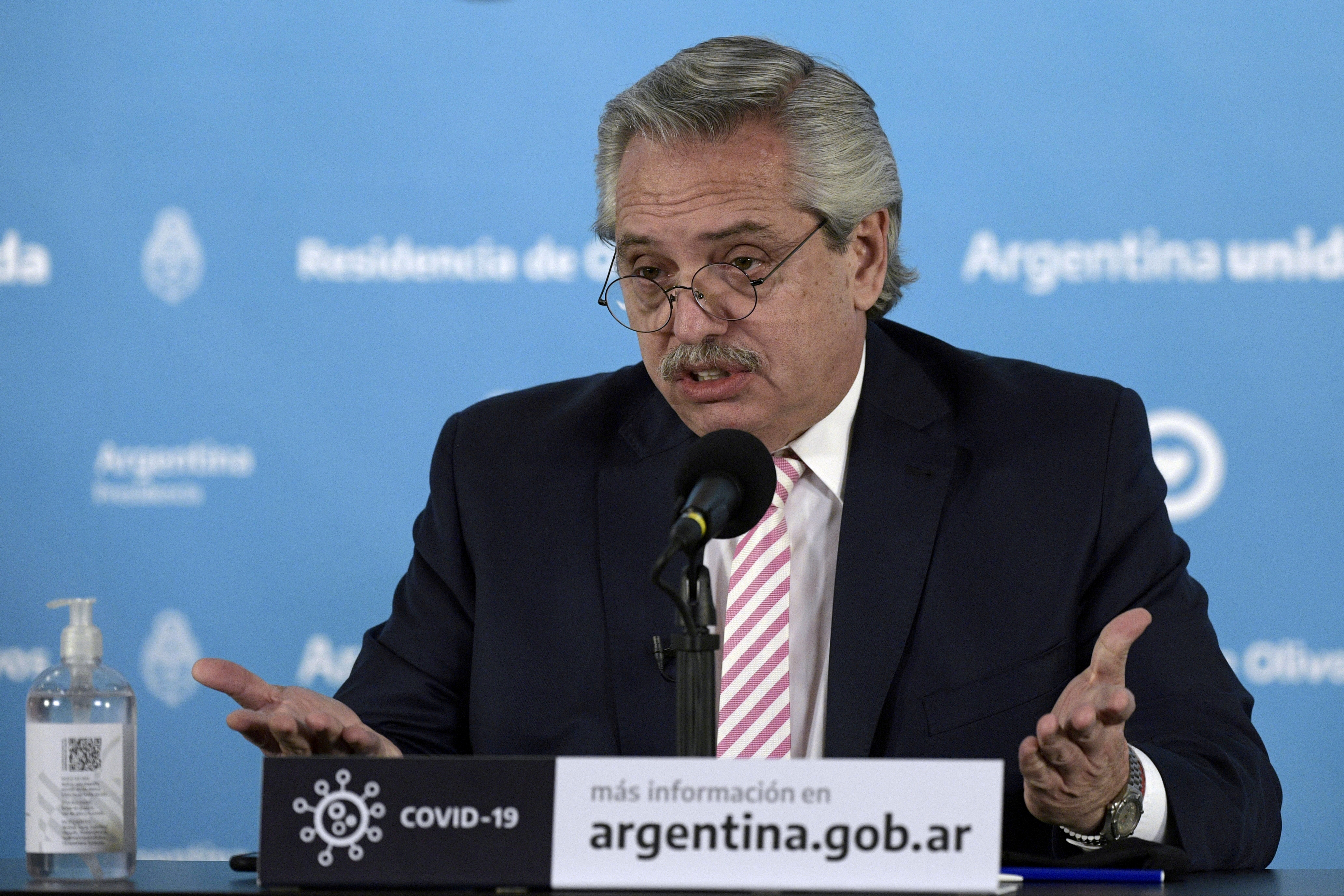 Argentine President Alberto Fern