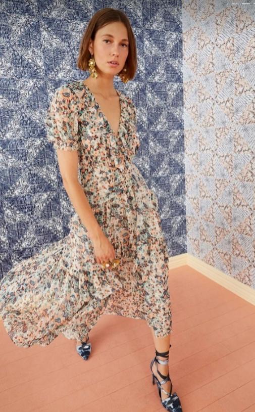 Vestido de flores de Ulla Johnson
