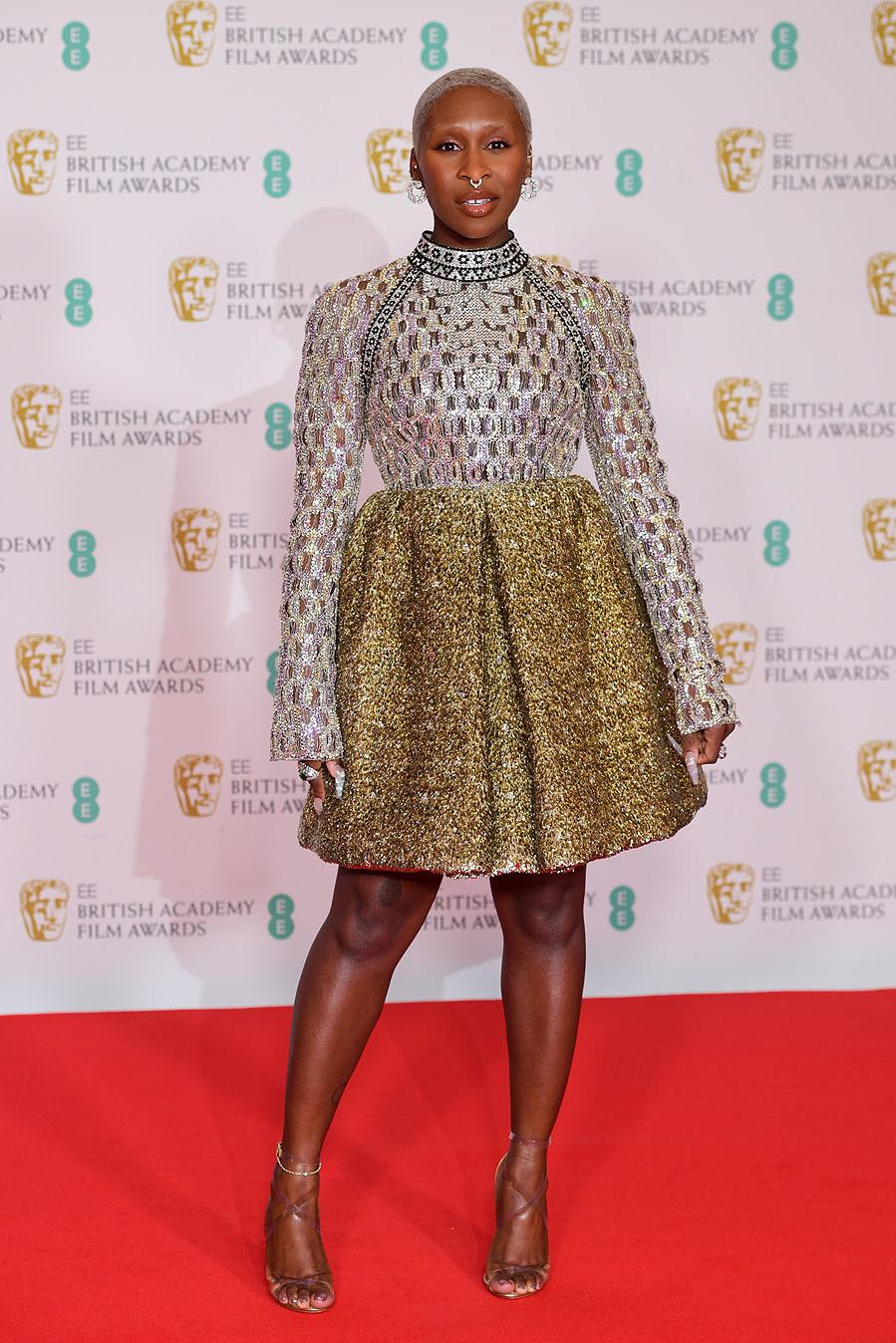 Cynthia Erivo - Los mejores looks de la alfombra roja de los Premios Bafta 2021