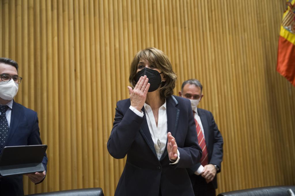 La fiscal general del Estado, Dolores Delgado, en el Congreso.