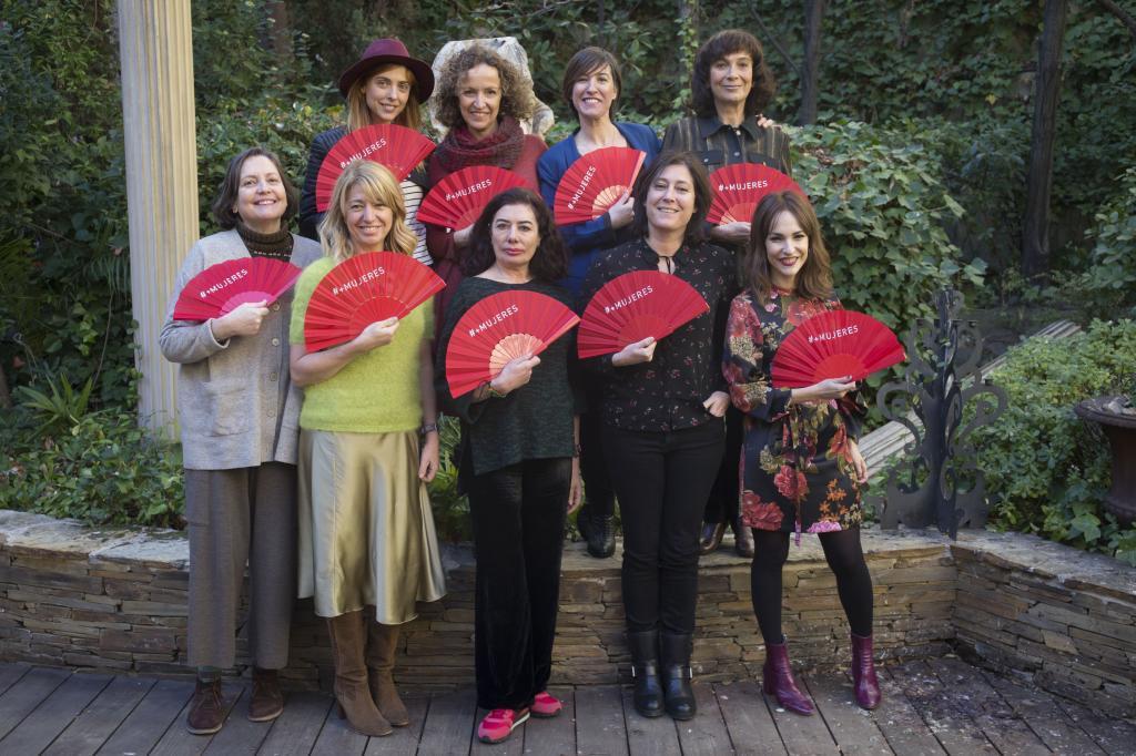 Cristina Andreu, la primera a la izquierda, en una imagen de 2018.