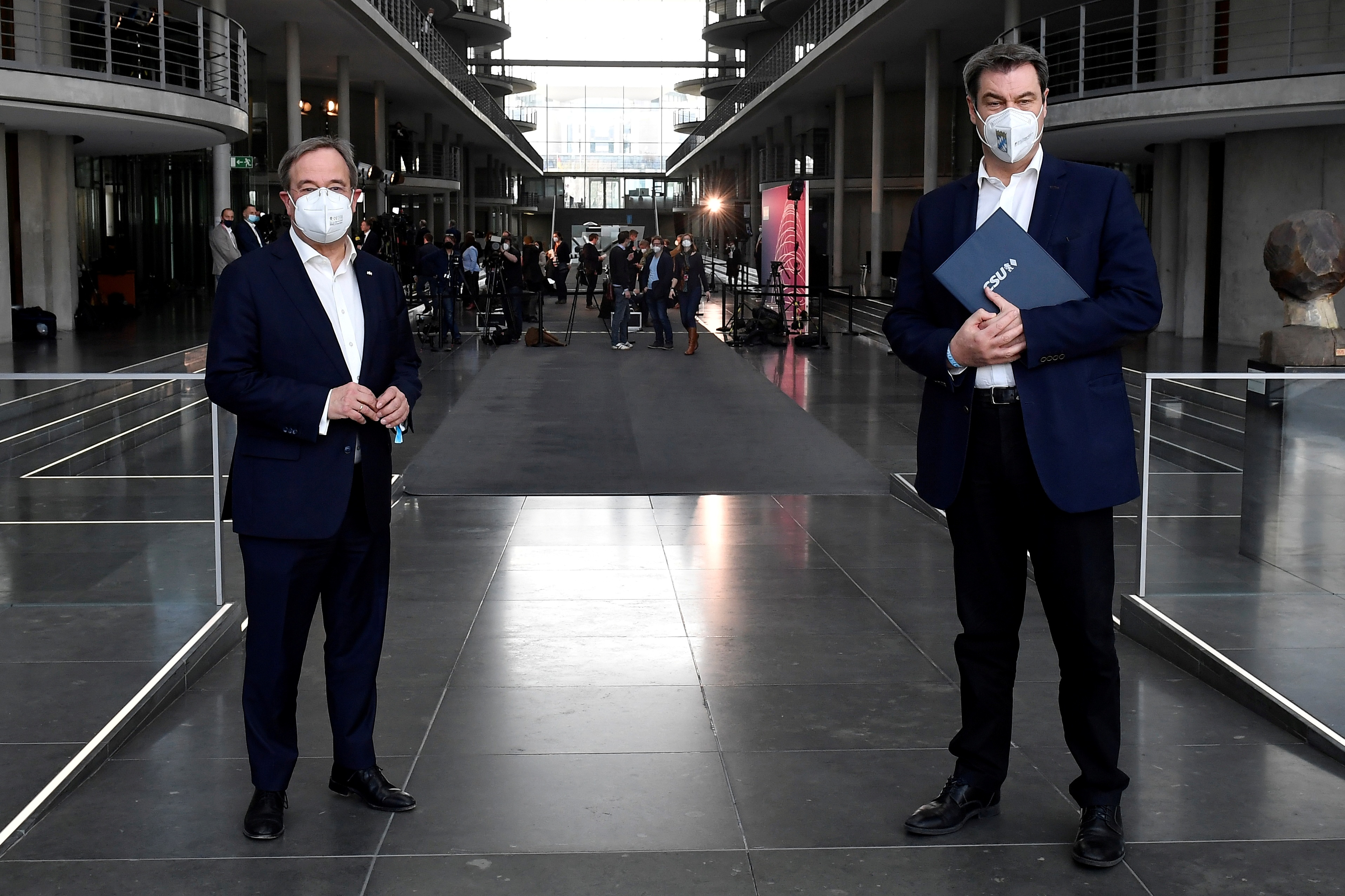 Armin Laschet y Markus Söder, en Berlín.