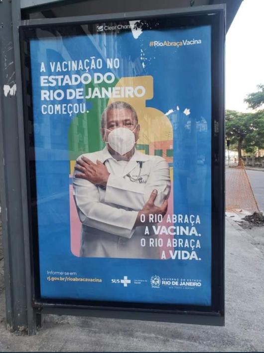 Imagen de la campaña anticovid de Río.