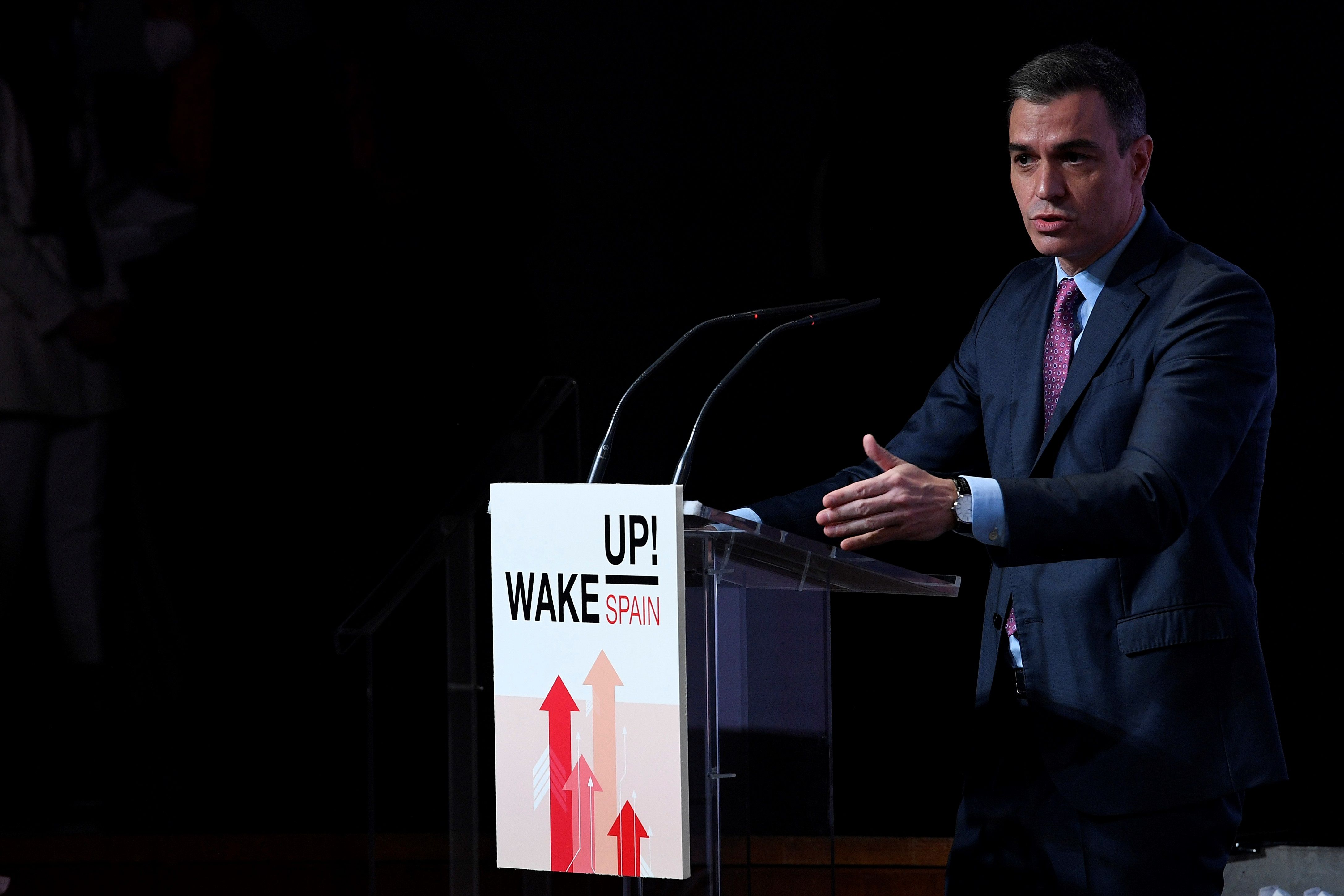 El presidente del Gobierno, Pedro Sánchez, este lunes en Madrid.