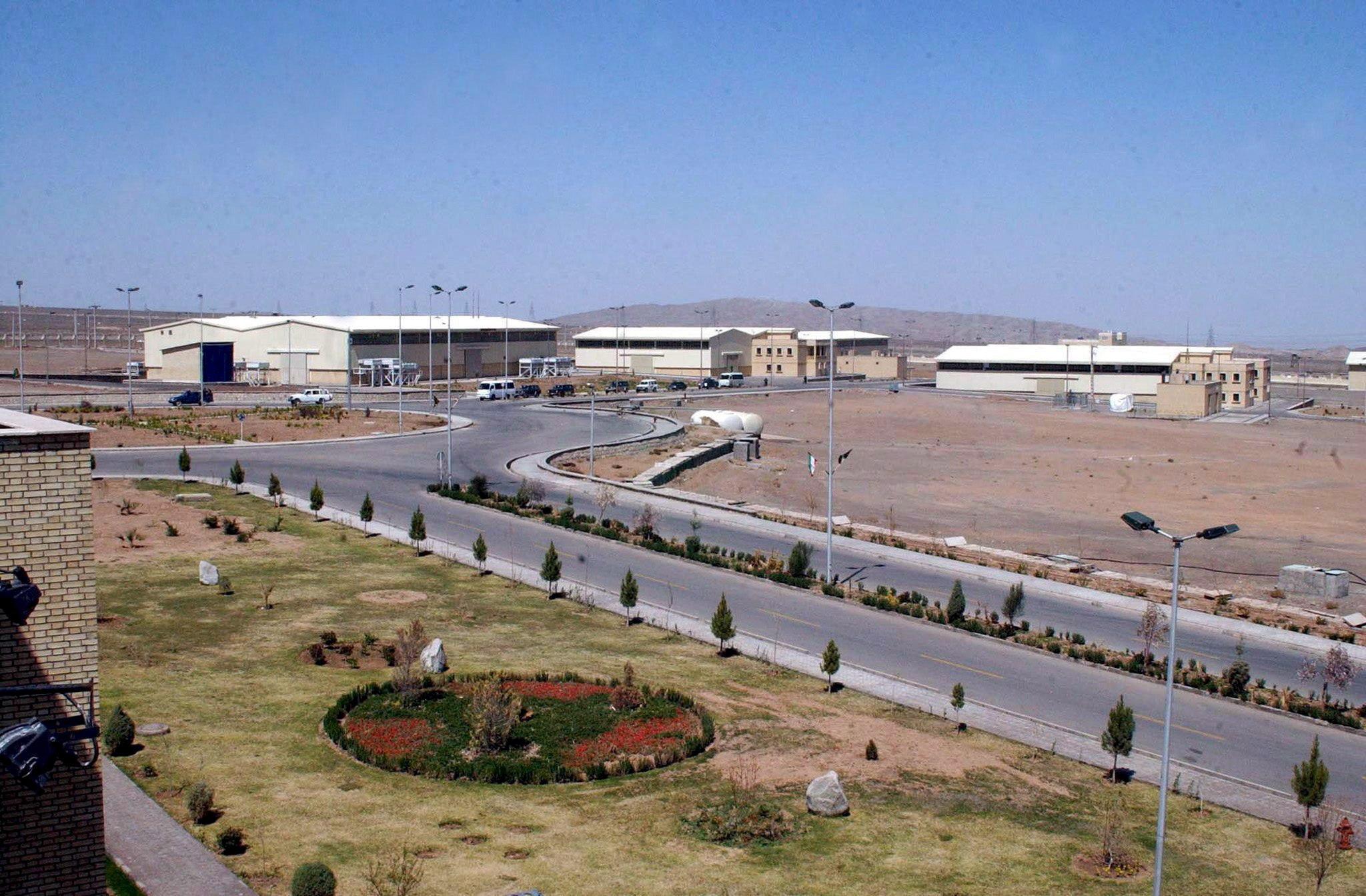 Vista del complejo de uranio enriquecido de Natanz en Irán.
