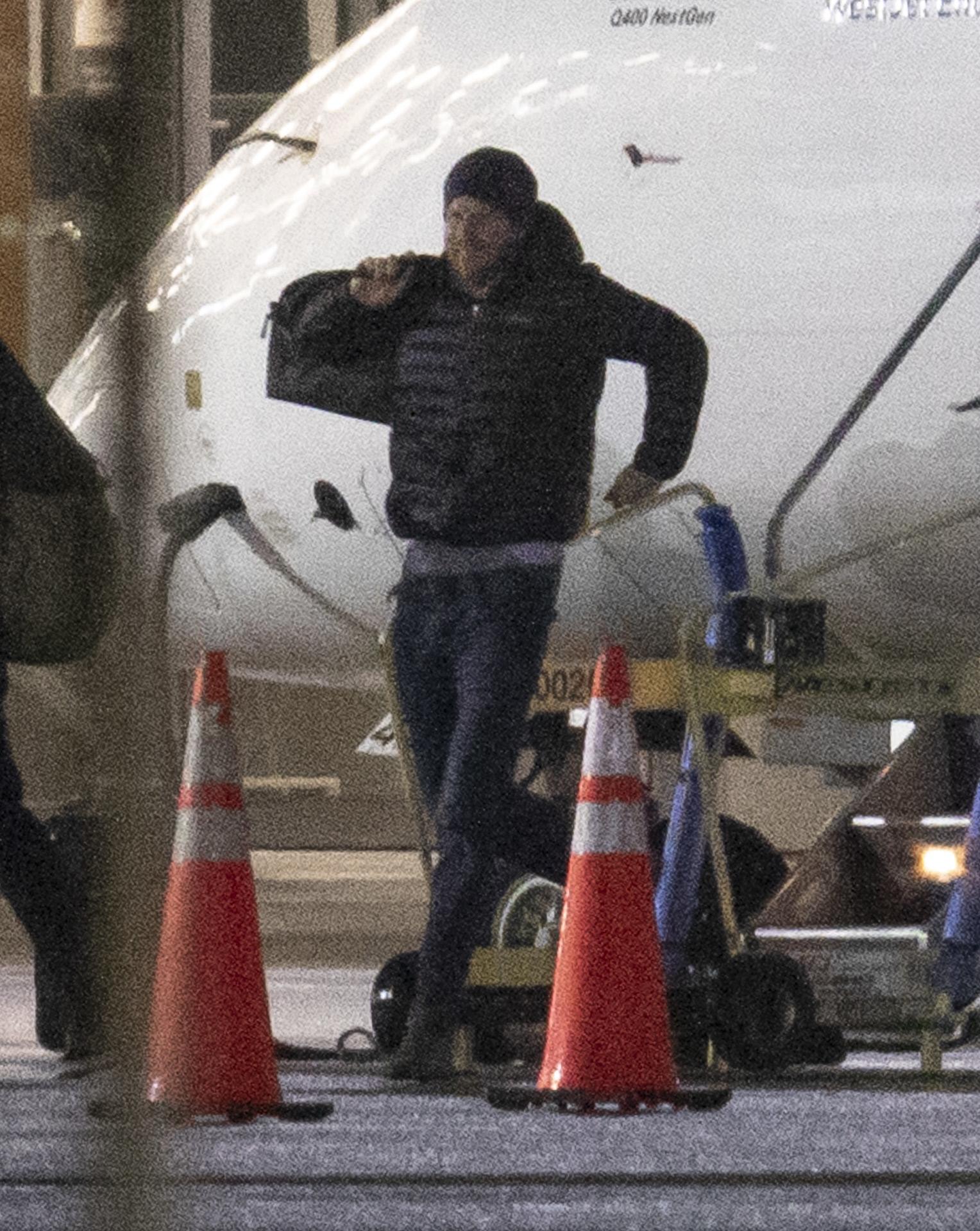 El príncipe Harry, en el aeropuerto de Sidney, Australia, en enero de 2020.