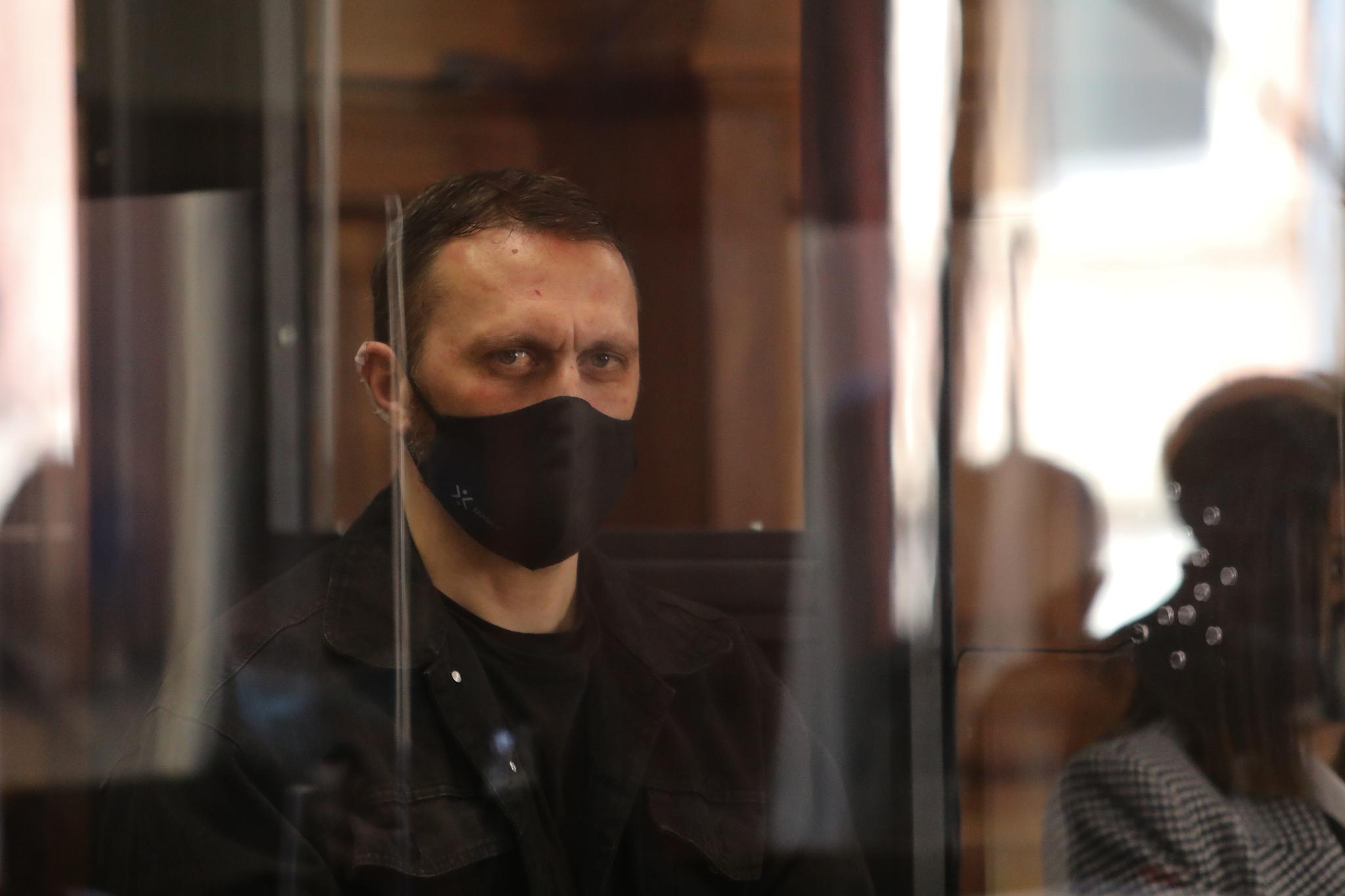 Norbert Feher, en una cabina blindada, este lunes, en el juicio.