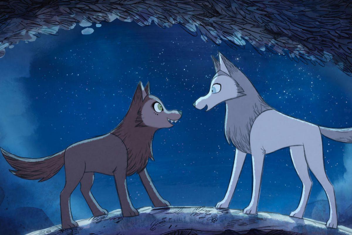 Robyn y Mabh, las dos protagonistas del filme, convertidas en lobas.