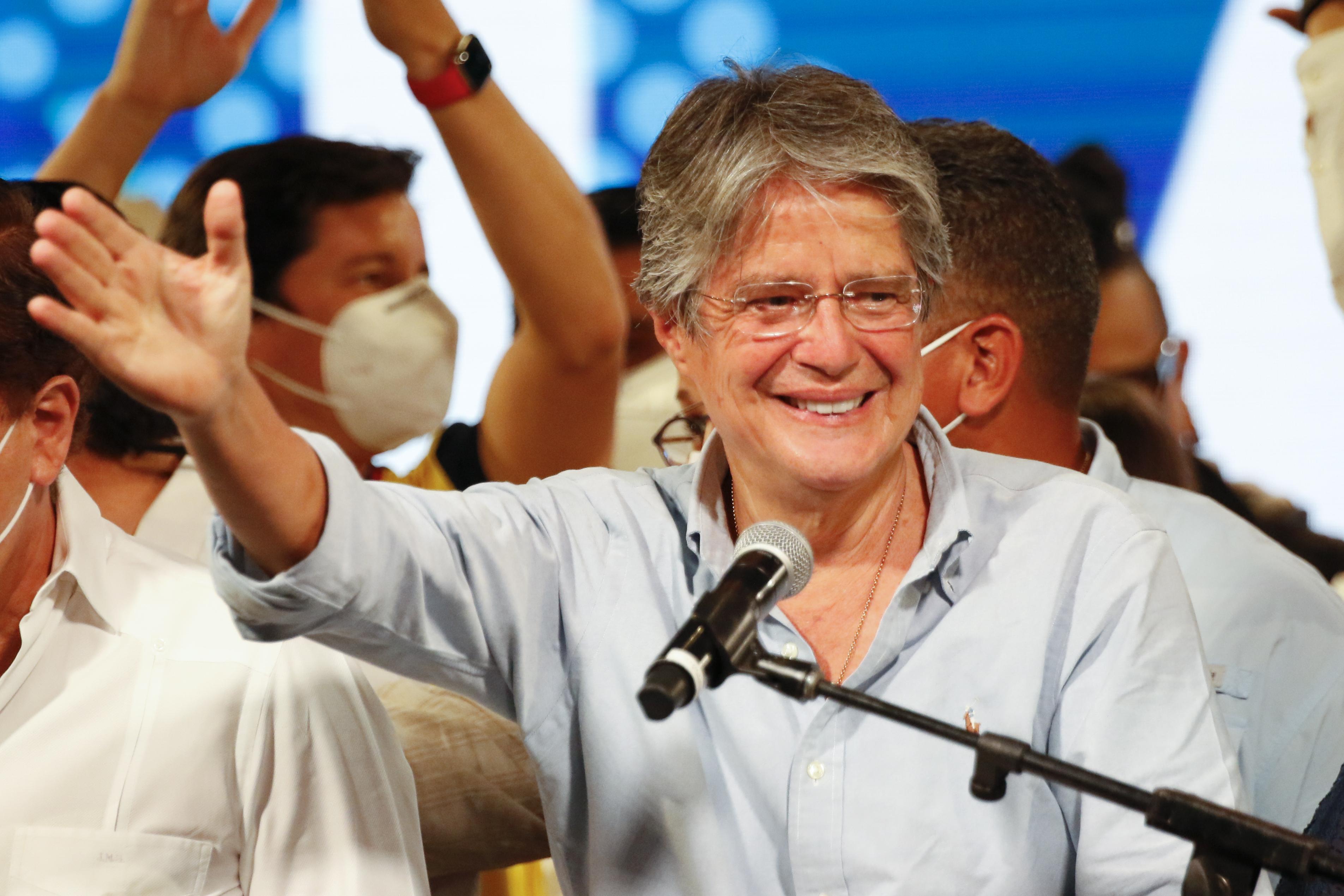 El presidente electo de Ecuador, Guillermo Lasso, el domingo.