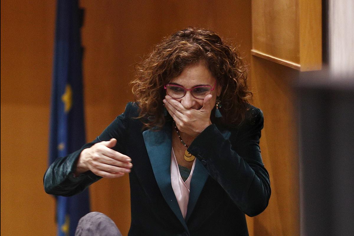 La ministra de Hacienda, María Jesús Montero, durante el acto de constitución del comité de expertos.
