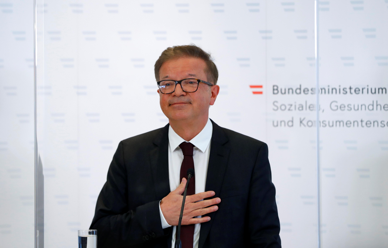 El ministro de Salud de Austria, Rudolf Anschober.