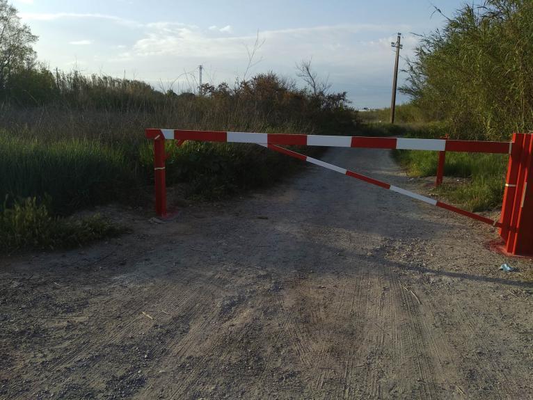 Acceso al Parque Natural del Turia en Manises donde ocurrió el accidente.