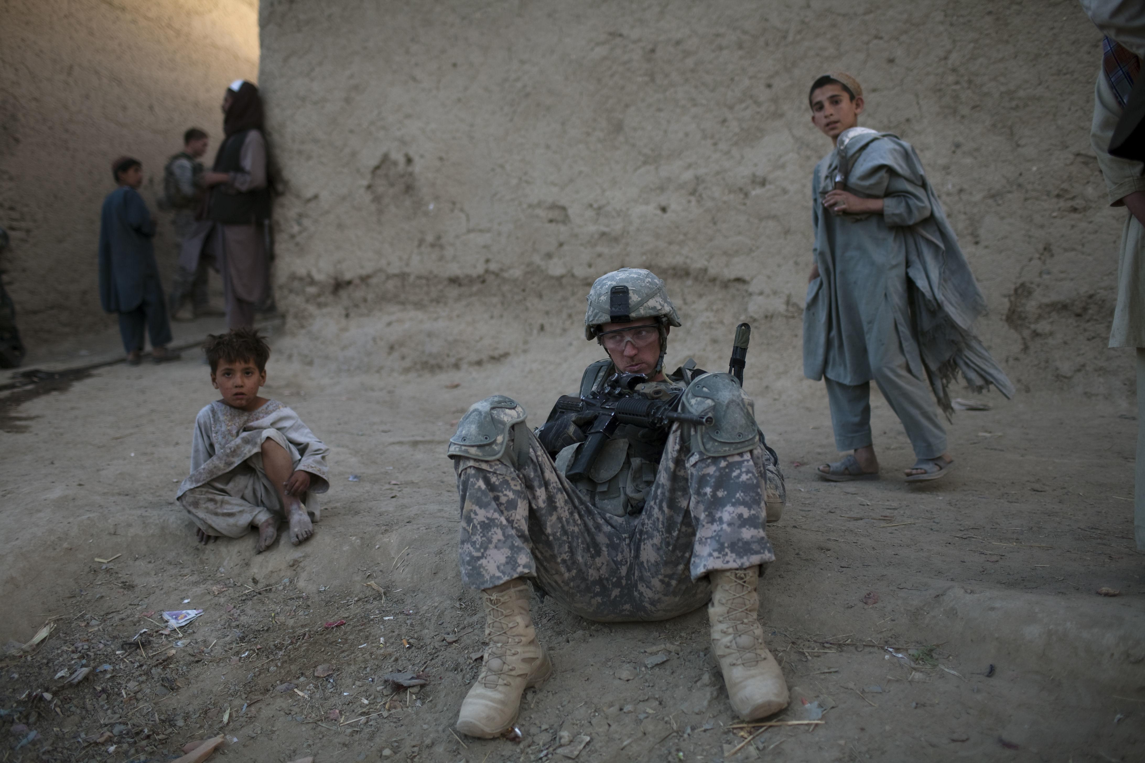 Un soldado de EEUU en Kandahar.