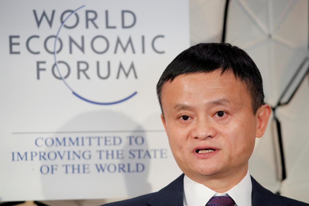 Jack Ma, en Davos en 2019.