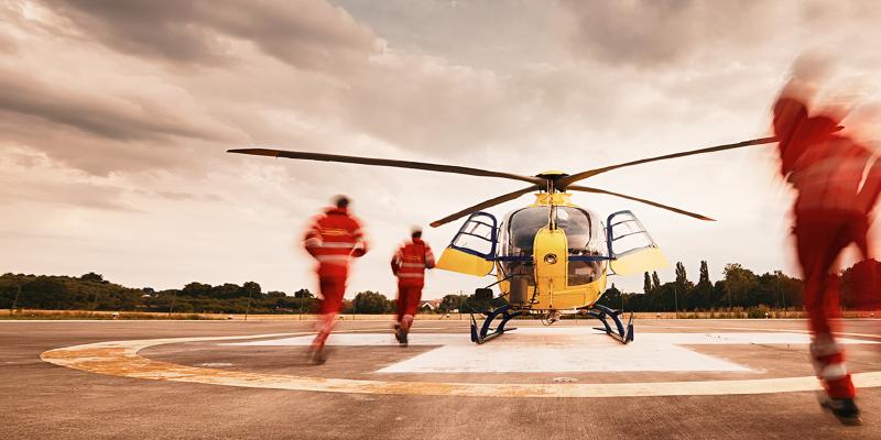 Uno de los helicópteros de la empresa Eliance