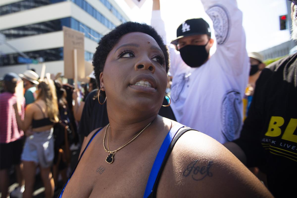 Patrisse Khan-Cullors, cofundadora de Black Lives Matter.
