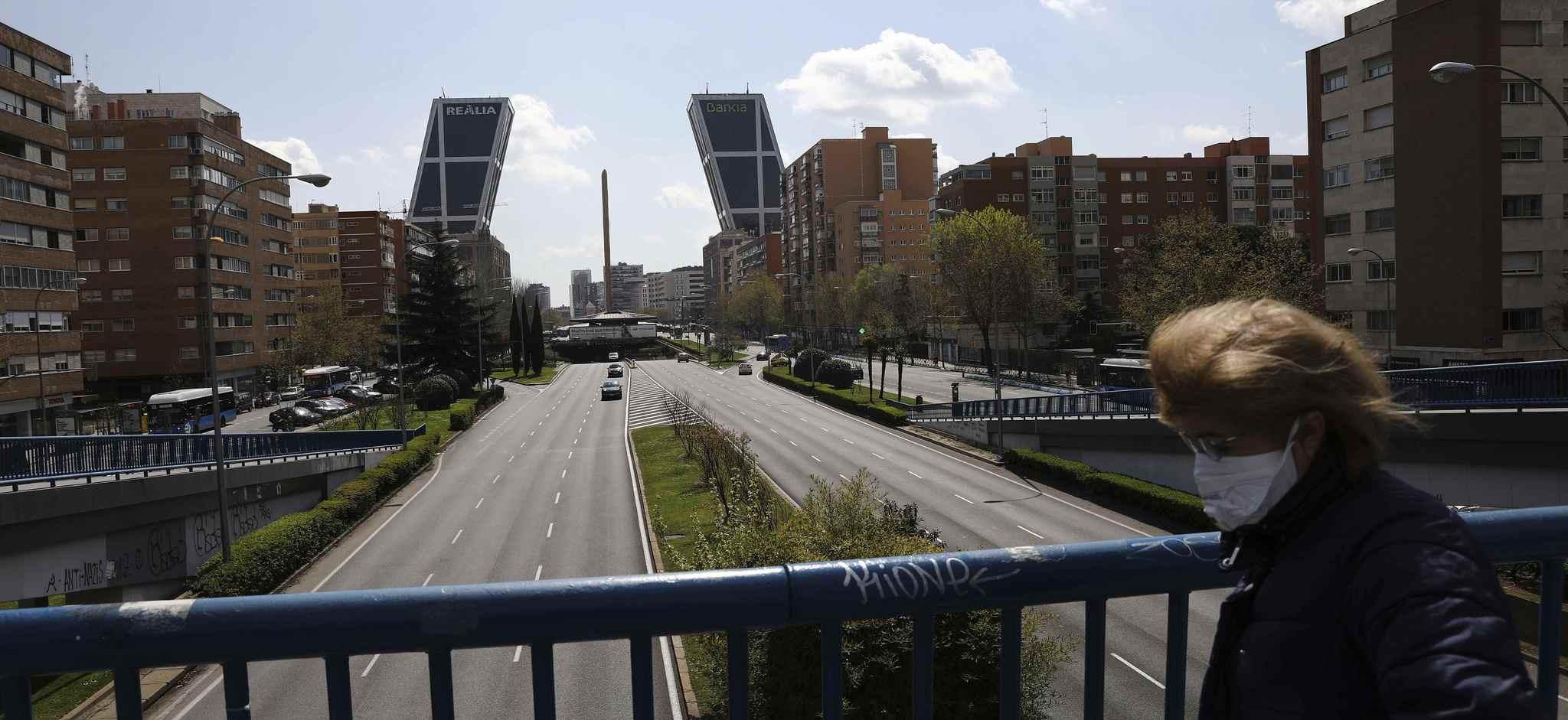 El Paseo de la Castellana de Madrid, en marzo de 2020.