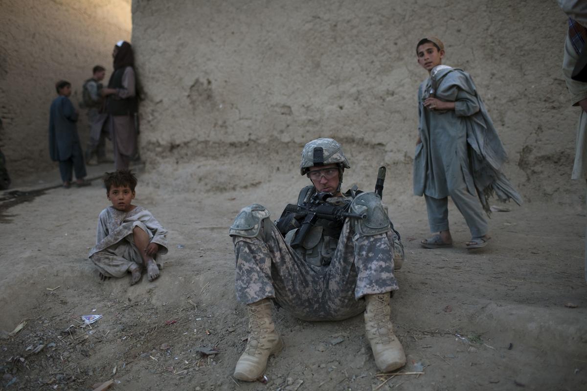 Un militar estadounidense en Afganistán.
