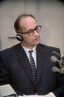 Eichmann, durante su juici en Israel.