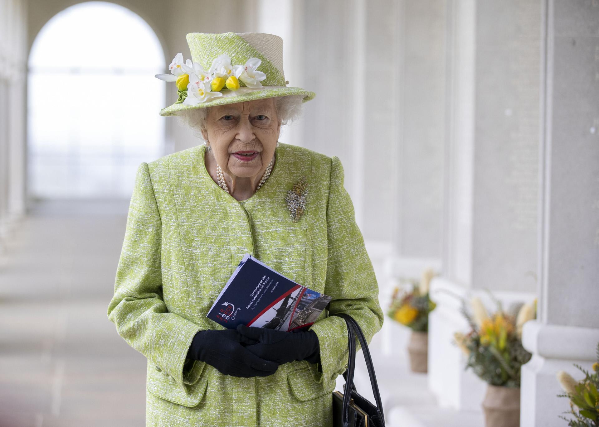 Isabel II, reina de Inglaterra, el pasado 31 de marzo.