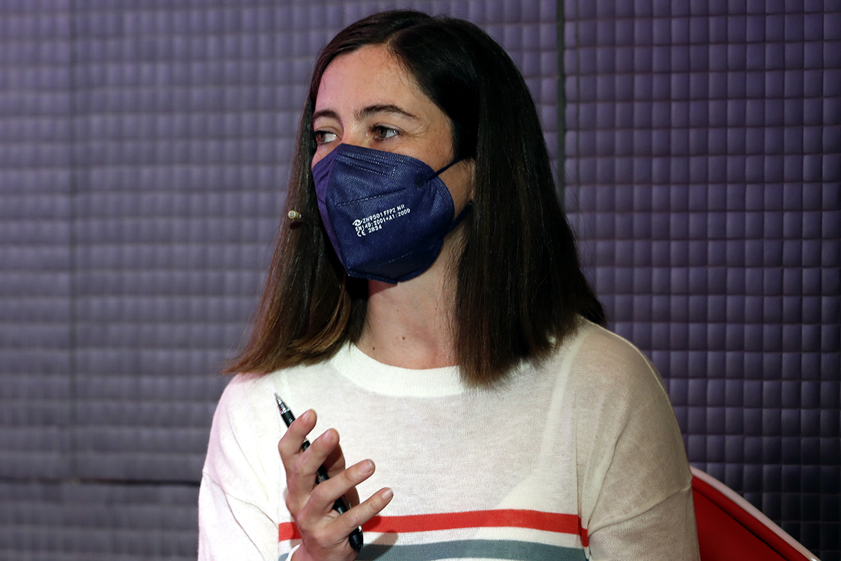 La periodista y moto viajera Alicia Sornosa