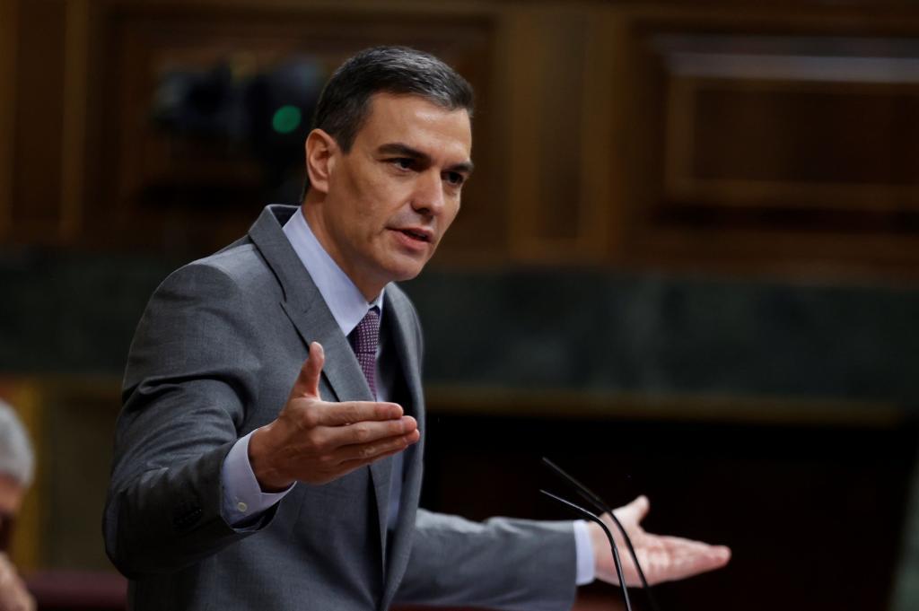 Pedro Sánchez, durante su intervención en el Pleno.