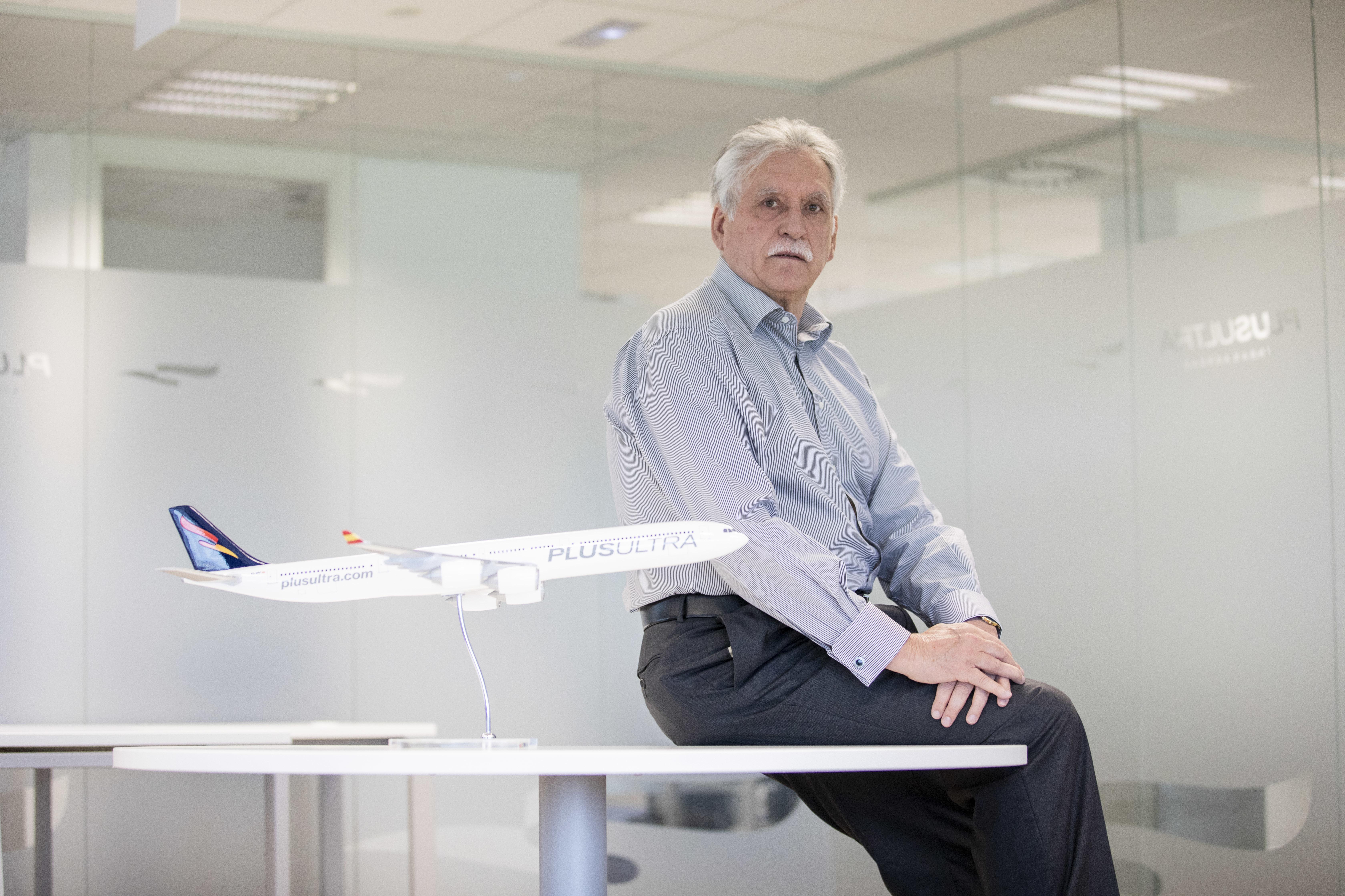Alberto Di Lolli. 14/4/2021, Madrid. Entrevista al presidente la compania aerea Plus Ultra, Fernando  lt;HIT gt;Garcia lt;/HIT gt;  lt;HIT gt;Manso lt;/HIT gt;